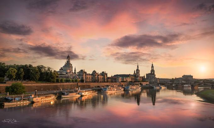 Dresden Sunset  by kerryellis - Colorful And Bright Photo Contest