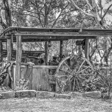 Landscape, Black & White, Farm,