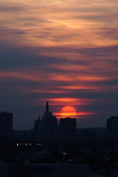 Sunset in Bean town