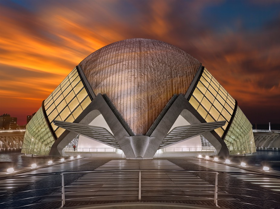 LHemisfèric is the cultural building, planetarium and cinema in the city of arts and Sciences in...