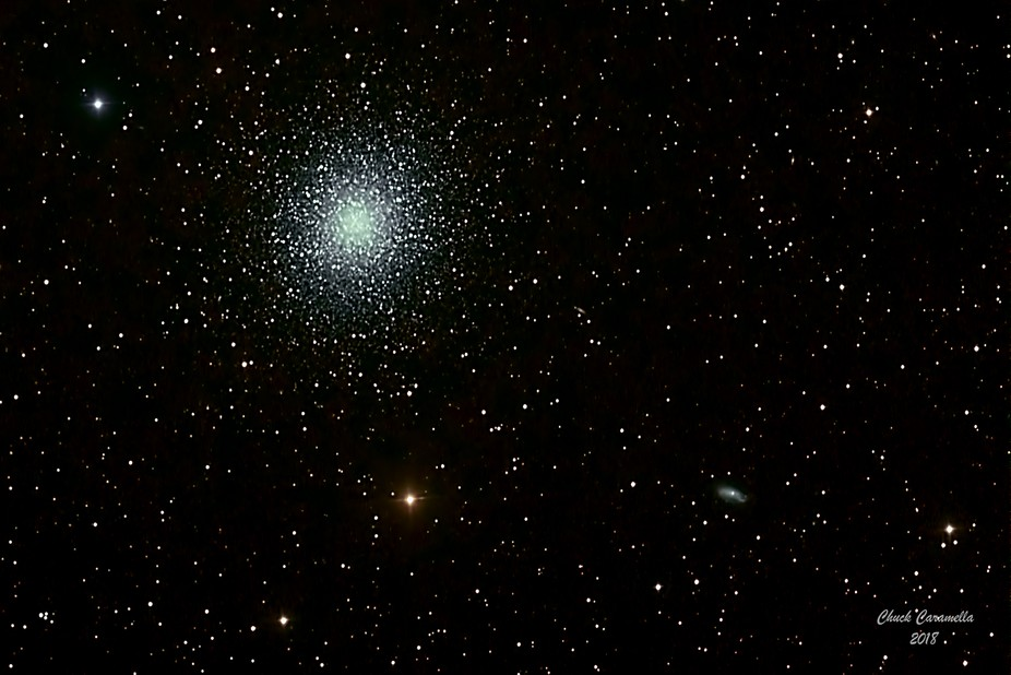 ASTROPHOTOGRAPHY - Celestron C11, Starizona Hyperstar, about 700mm FL, about F/2.0.  M13 -  The Great  Globular Cluster in Hercules is about  22,200 light years distant. Many consider it the finest globular cluster in the northern hemisphere.