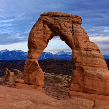 Delicate Arch at Sunset.  Arches National Park, Utah