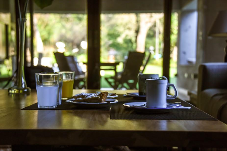 Por desayunar