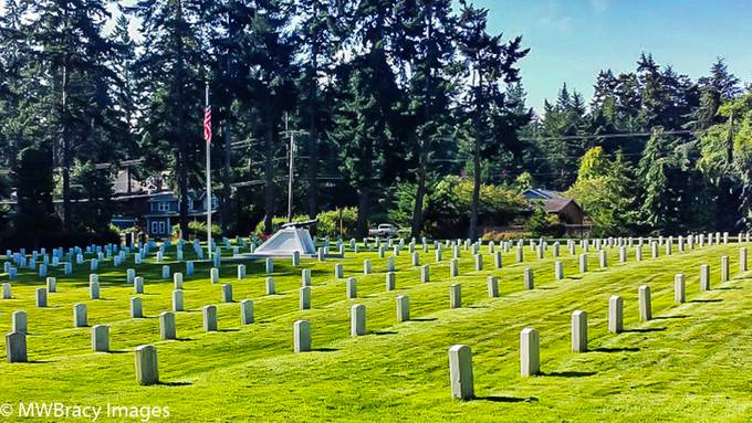 Military cemetery at Fort Worden, Wa.