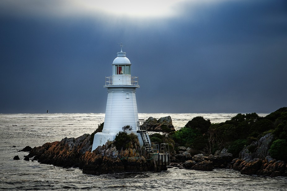 One of the lighthouses at Hells Gate, Macquarie harbour, Strahan, Tasmania