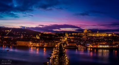 Blue Hour Over Prague Castle