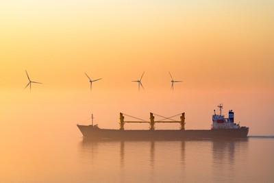 Misty morning sunrise.