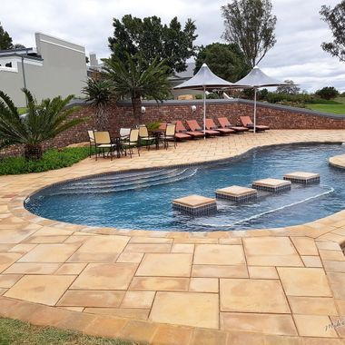 Swimming Pool Designed and constructed by myself. The aim was to have the giraffe interact with guests at Founders Lodge game reseve