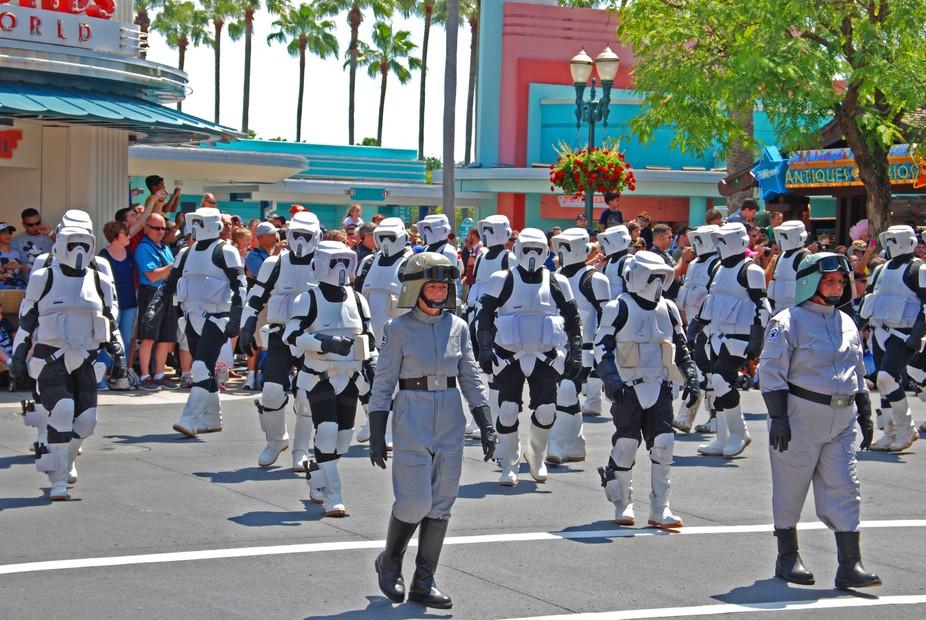 Star wars parade, Disney Hollywood studios.