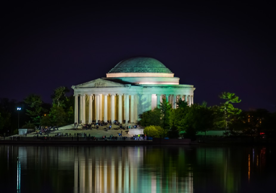 Jefferson Memorial at night2-