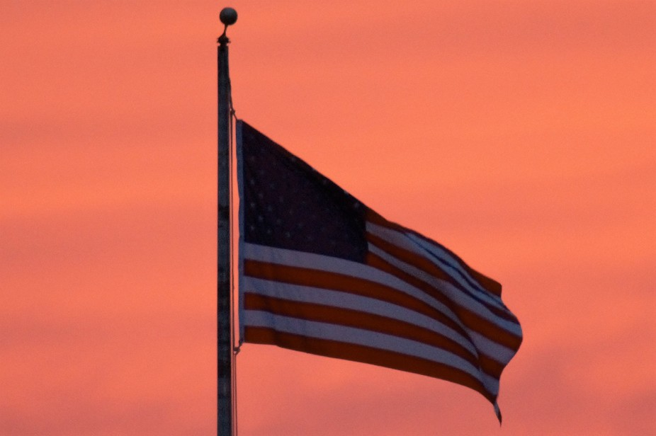 Old Glory at sunset, some of the good Lord's best work!