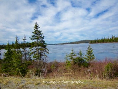 Northern Ontario, before the ice had melted