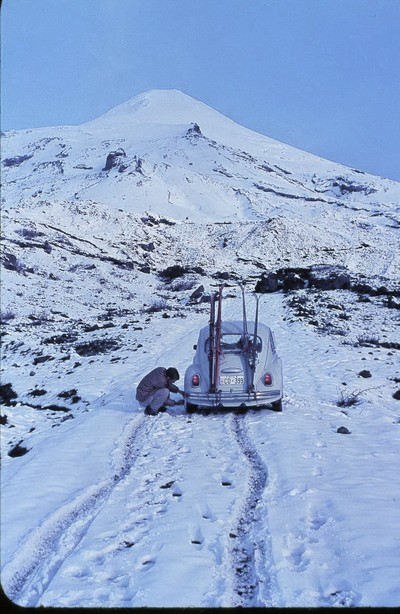 Skiing on Volcanos, Chile