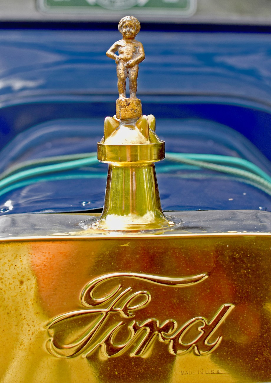 Ford Model T radiator cap. Taken at Model T rally at Alnwick castle.