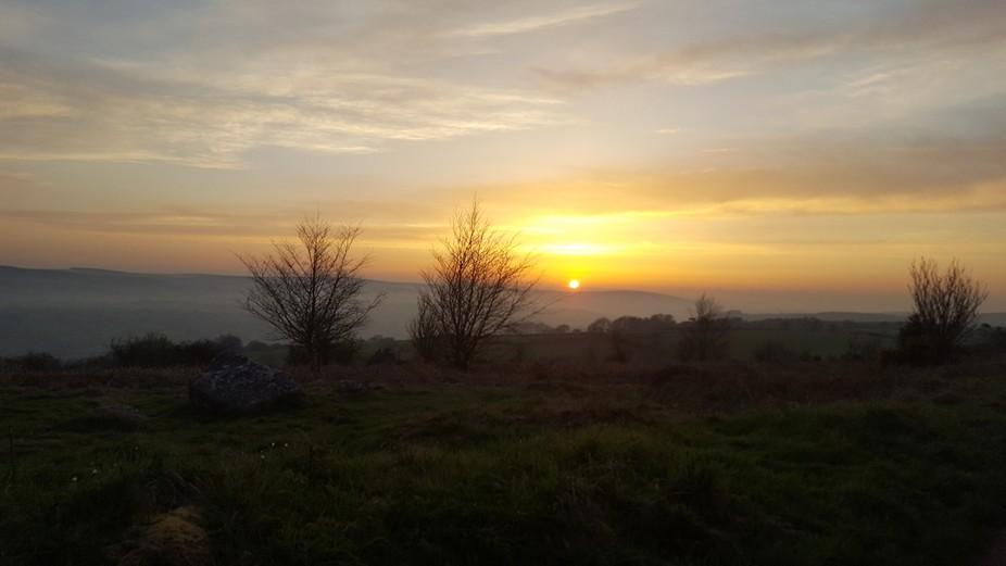 Sun set on Dartmoor