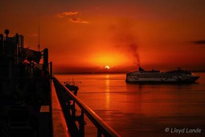 Sunset off Belize