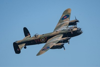 Season Premiere at Shuttleworth_OW Sunday 6-5-18 Beautiful blue skies greet the Lancaster for a stunning display.