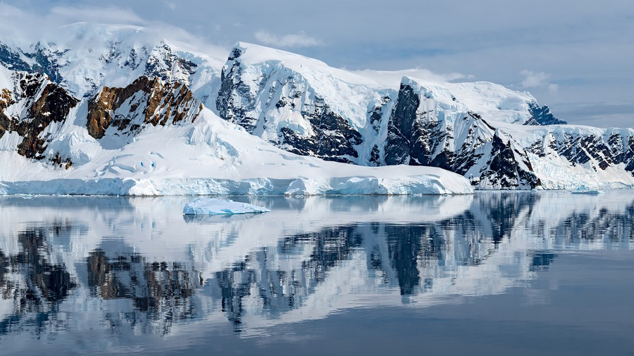 Reflections on a calm day in the Antarctic