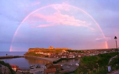 Rainbow over the abby