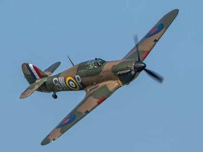 Season Premiere 6-5-18 at Shuttleworth_OW #raf100 The stunning Battle of Britain veteran Hawker Hurricane P3717.