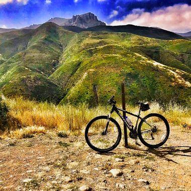 Tough mountain biking ahead!