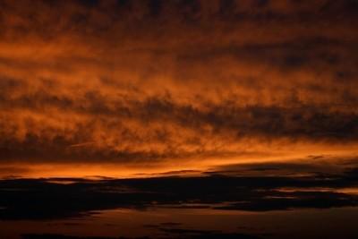 Zonsondergang bij Levane.