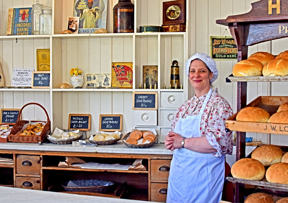 Edwardian Bakers shop at Beamish Museum.