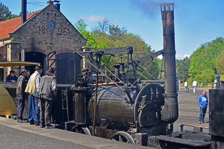"Puffing Billy and crew getting ready to depart, Sadly not the original ""Puffing Billy"" a copy made in 2005 which cost around £500,000."
