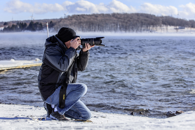Photographer on the Shore