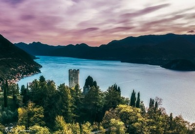Como lake from the Castle of Vezio