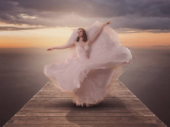 Ballerina on the Jetty by mikehudson_4920 - Creative Reality Photo Contest