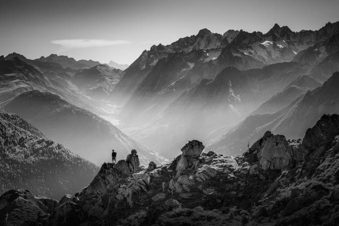 Mountain Landscape - A view from by vitormurta - Black And White Landscapes Photo Contest