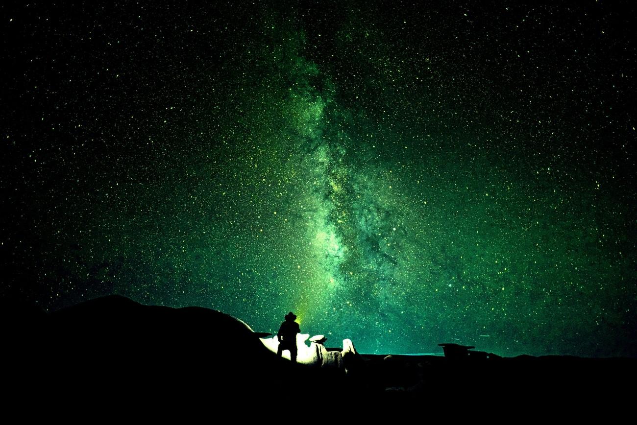 Me at night In Bisti De-Na-Zin Wilderness.