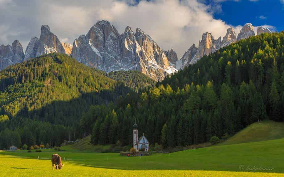 Italy/ Dolomiten/Val de Funes/ Geisler Spitzen