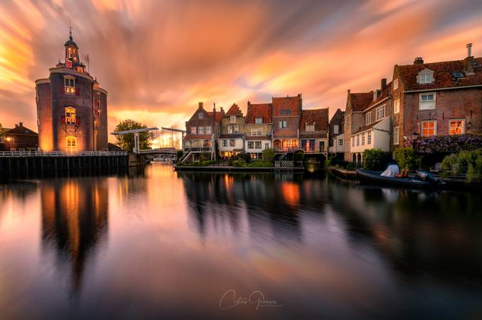 Spring sunset in Enkhuizen by costasganasosphotography - City Sunsets Photo Contest