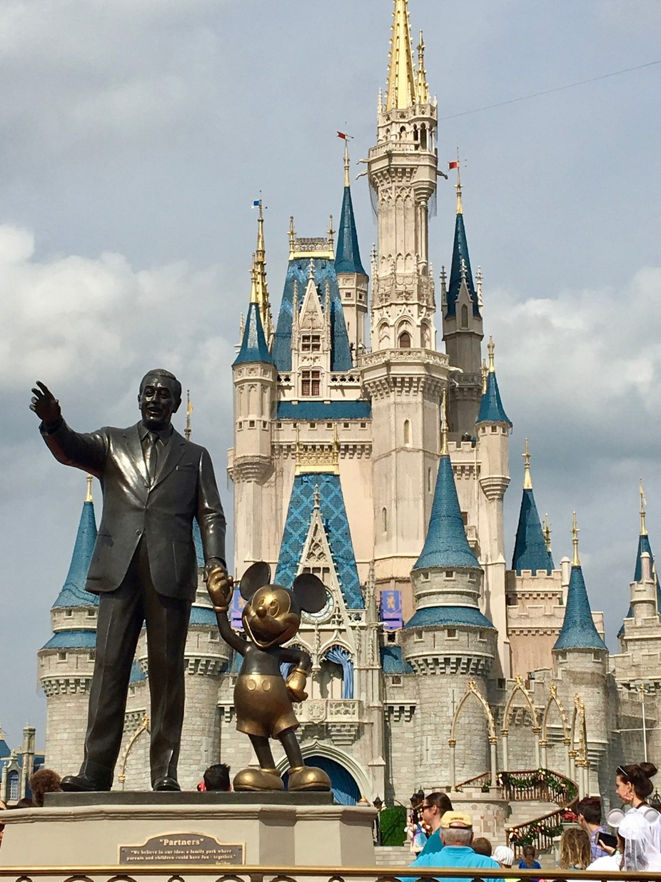 Walt & Mickey at Magic Kingdom