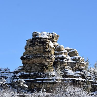 Shot out the window as we were driving down the freeway, thought it didn't come out bad! Can someone tell me what they call this rock formation in Southern Wisconsin? Nikon D3400
