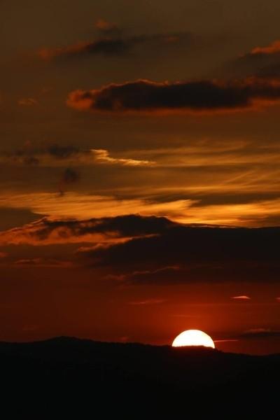 Sunset Levane, Toscane, Italy.