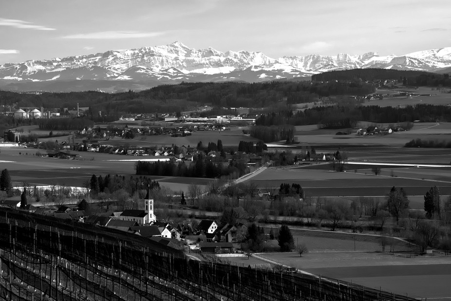 Started an evening into a birthday party in switzerland. The panorama was overwhelming with an ap...
