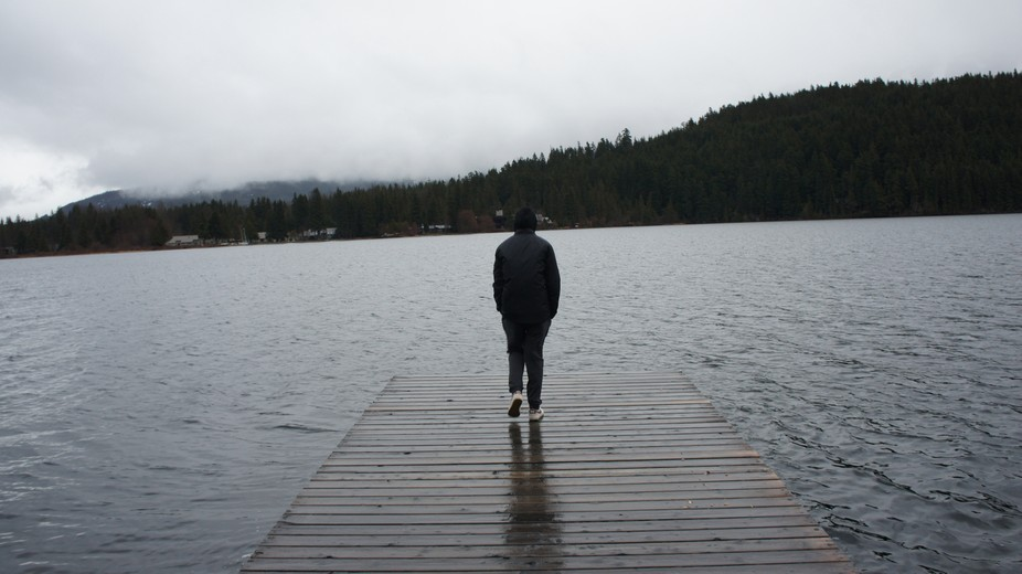 I was in BC with my friend and stopped by Rainbow Lake I think..?