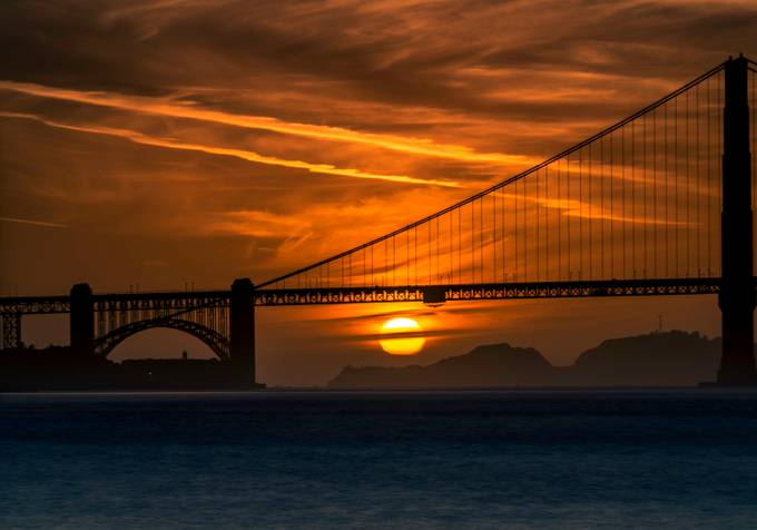 Golden Sun Set from the Wave Organ by DaleShelton - Sunset And The City Photo Contest