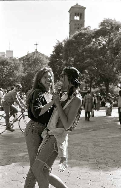Dancing Couple in Washington Square Park, May, 1991