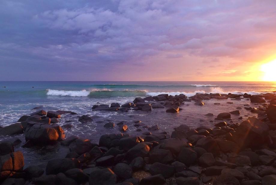 Sunrise at Burleigh Heads, Gold Coast.