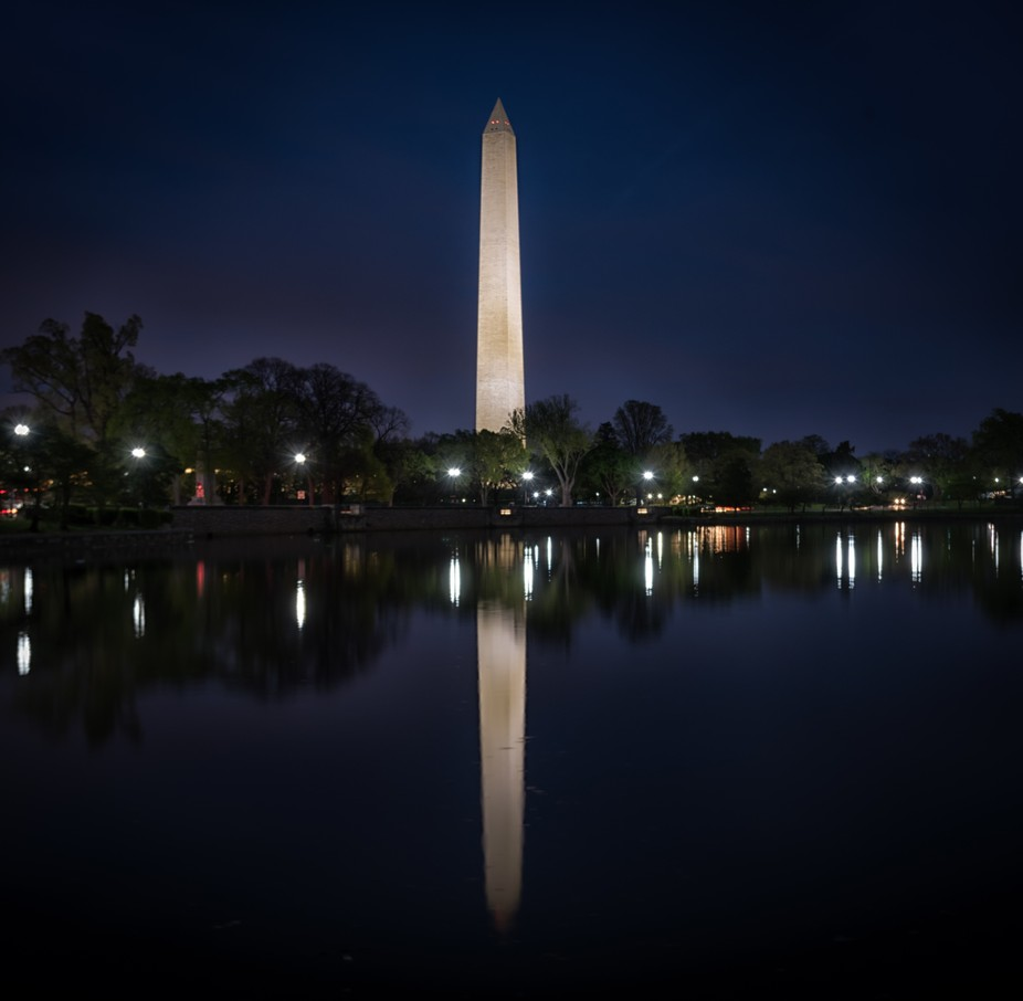 Washington Monument Reflection-