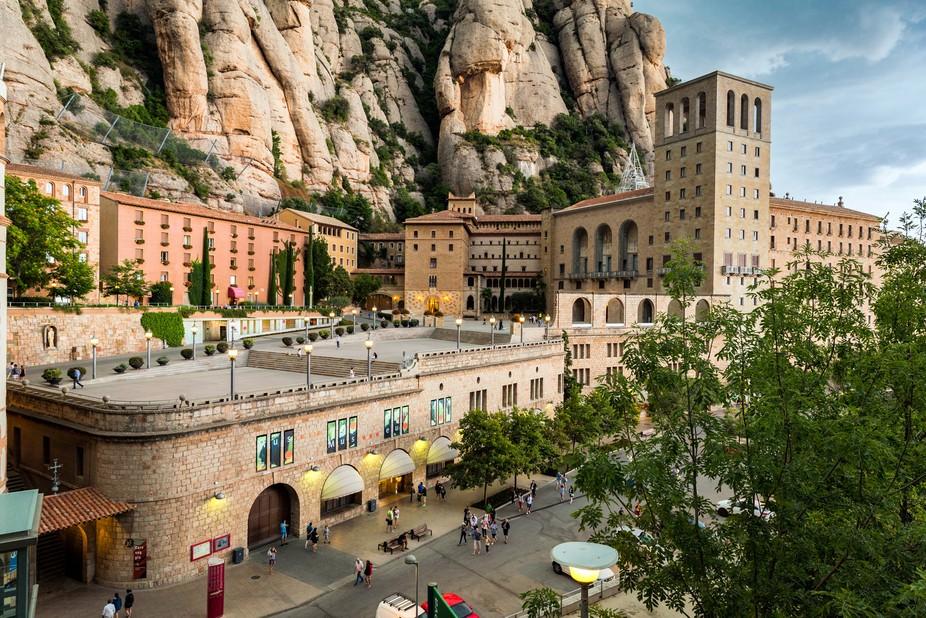 Santa Maria de montSerrat is a benedictine abbey located on the mountain of Montserrat, in catalo...
