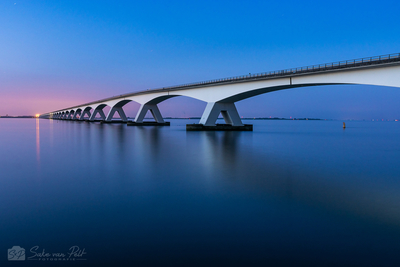 Zeeland Bridge at Night