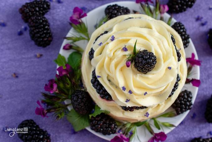 Blackberry Lemon Cake by LivingLenz - Looks Delicious Photo Contest