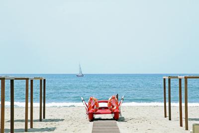 Beach & water craft at Viareggio, Italy