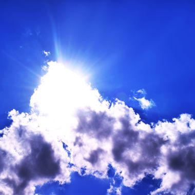 Sunburst in the Clouds