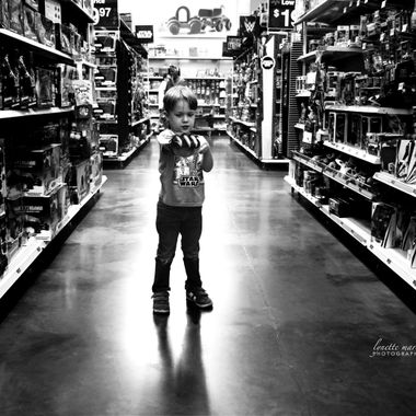 Nico in Aisle with Claw Hand